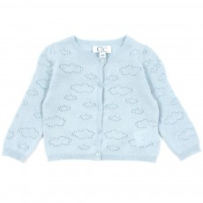 Cardigan Lurex Nuage B&eacute;b&eacute; - Vert d eau