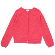 Cardigan Lurex - Rouge