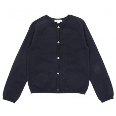 Cardigan Lurex - Bleu