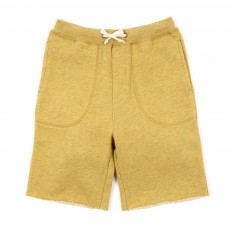 Short molleton Axil-Jaune chiné