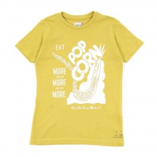 T-shirt Pop corn-Jaune