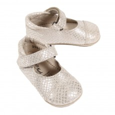 Ballerines Velcro B&eacute;b&eacute; - Argent&eacute;