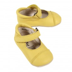 Ballerines Velcro B&eacute;b&eacute; - Jaune
