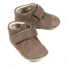 Chaussons Velcro - Taupe