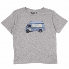 T-shirt Summer Camp - Gris chiné