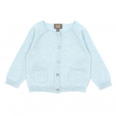 Gilet maille B&eacute;b&eacute; - Bleu ciel