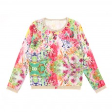 Cardigan Fleurs tropicales