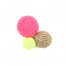 Broche Pompon - Rose