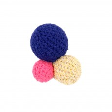 Broche Pompon - Bleu