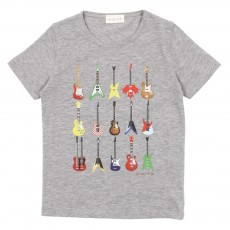 T-shirt Guitares - Gris chin&eacute;