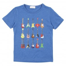 T-shirt Guitares - Bleu