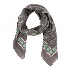 Foulard &agrave; Fleurs - Gris anthracite