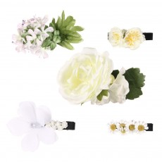 Set 5 barrettes Fleurs