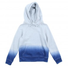 Sweat &agrave; capuche Tie &amp; Dye - Bleu roi