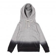Sweat &agrave; capuche Tie &amp; Dye - Gris