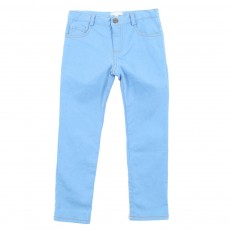 Pantalon toile slim - Denim bleached