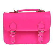 Petit cartable-Rose fluo