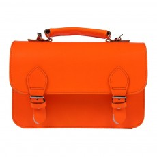 Petit cartable-Orange fluo