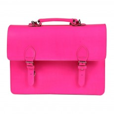 Grand cartable-Rose fluo