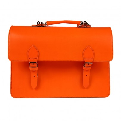 Grand cartable-Orange fluo  Zorrro