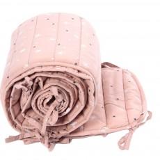 Tour de lit complet Etoiles - rose