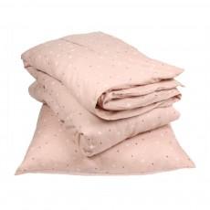 Parure de lit Junior Rose - Etoiles blanches