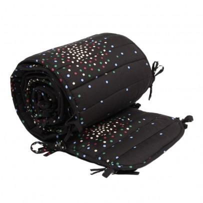tour de lit complet charbon pois multicolores archives le fait main. Black Bedroom Furniture Sets. Home Design Ideas
