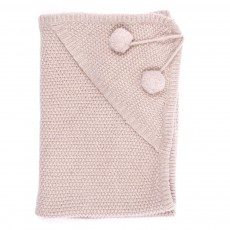 Couverture en maille Lurex - Rose