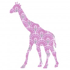 Sticker Girafe - Rose