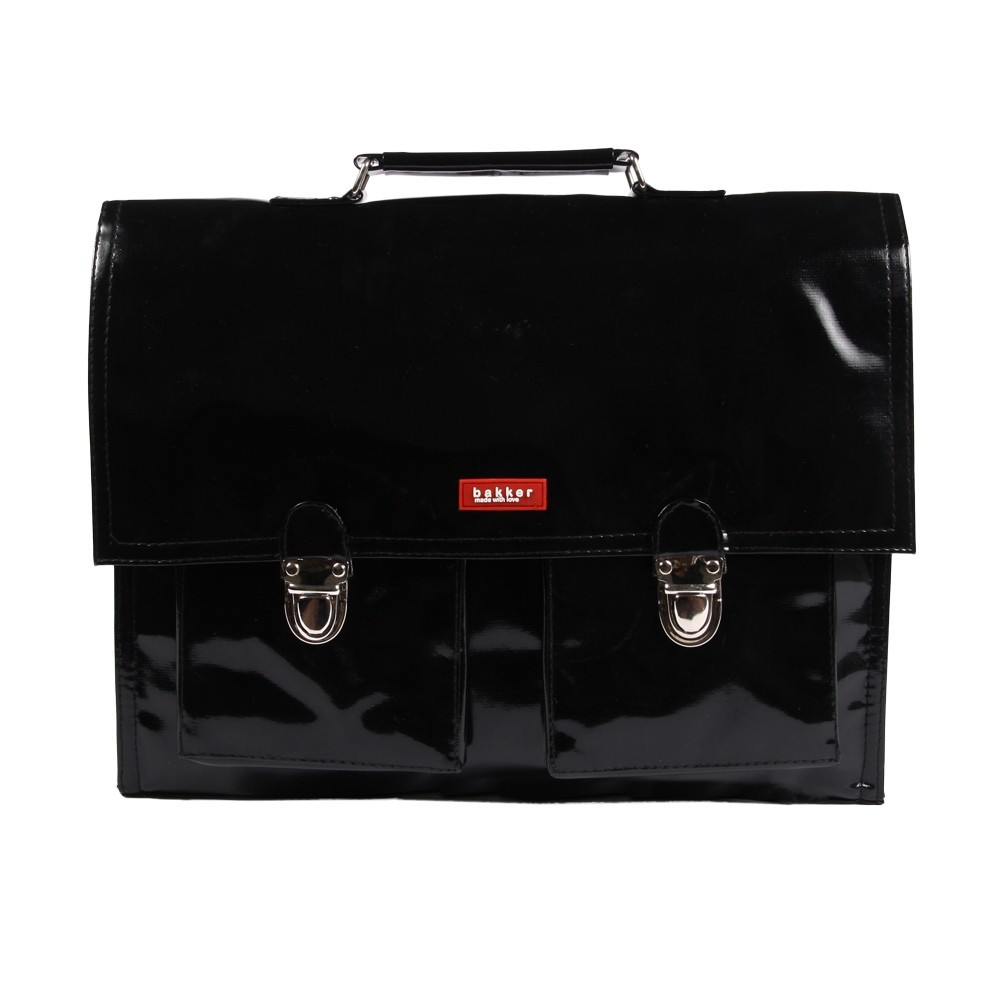 Cartable bretelles vinyle noir bakker made with love - Bakker made with love cartable ...