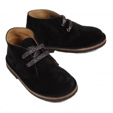 Derbies Suede Lacets Lurex