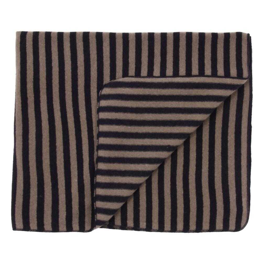 plaid rayures bleu marine ecru album di famiglia d coration smallable. Black Bedroom Furniture Sets. Home Design Ideas