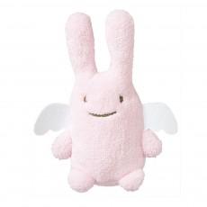 Doudou ange lapin rose pâle