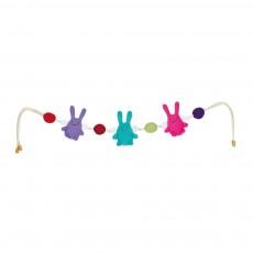 Boulier Hochet de berceau Anges lapin (pour berceau et poussette)
