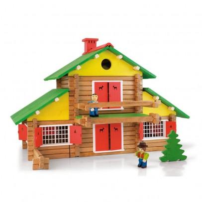 Jeu de construction mon chalet en bois 240 pi ces jeujura jeux jouets l - Video de jeux de construction ...