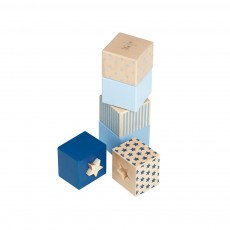 Cubes empilables et encastrables - Bleu