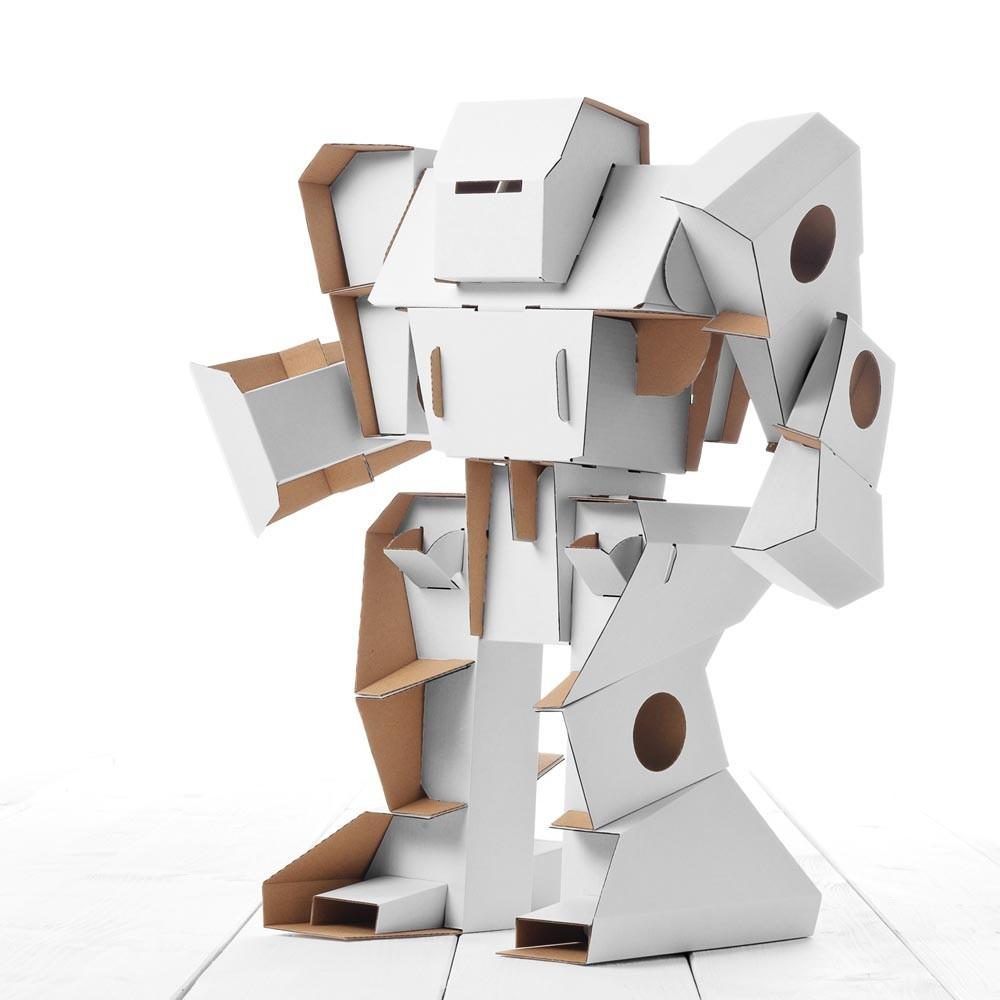 robot en carton blanc calafant jeux jouets loisirs. Black Bedroom Furniture Sets. Home Design Ideas