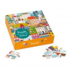 Puzzle Town - 56 pièces Multicolore