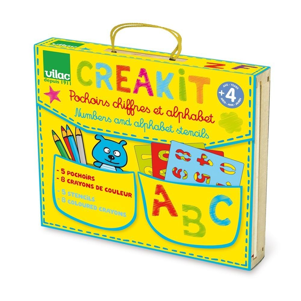 creakit chiffres et lettres vilac jeux jouets loisirs enfant smallable. Black Bedroom Furniture Sets. Home Design Ideas