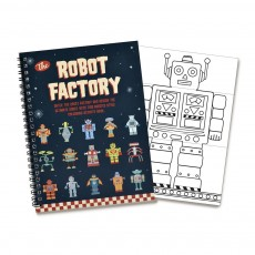 Livre de coloriage Robot Multicolore