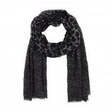 Foulard coeurs façon léopard