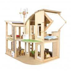 Maison de poupée écologique meublée