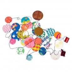Guirlande confetti - Papier fluo