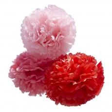 Pom - Rouge, rose, rose pâle