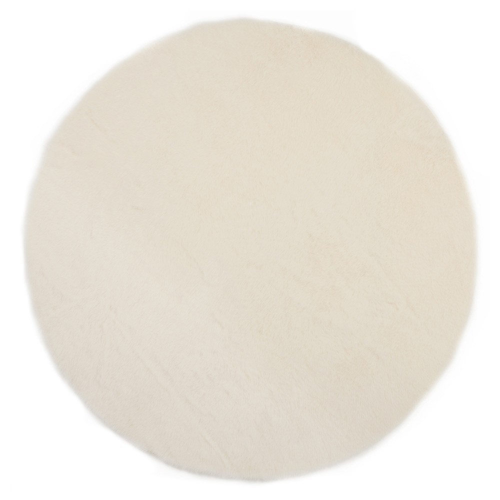 tapis rond blanc pilepoil d coration smallable