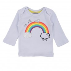 T-shirt Impression Sheep Arc En Ciel