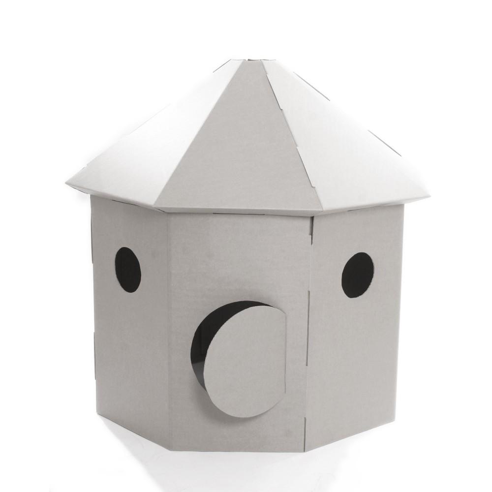 Petite maison en carton fabriquer l 39 impression 3d - Cabane en carton a colorier ...