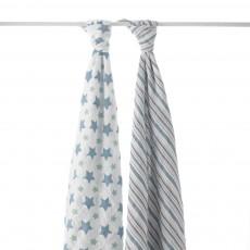 Maxi-lange - Etoiles bleues - Pack de 2