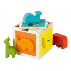 Boîte à formes Zoo Multicolore