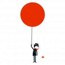 Sticker Monsieur et le ballon rouge - Blanca Gomez